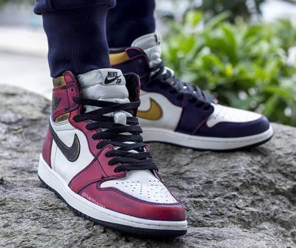"""Top 10 đôi giày Sneaker hot trend 2019 - Air Jordan 1 SB """"LA to Chicago"""""""