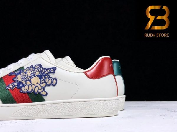 giày gucci ace sneaker with three little pigs siêu cấp
