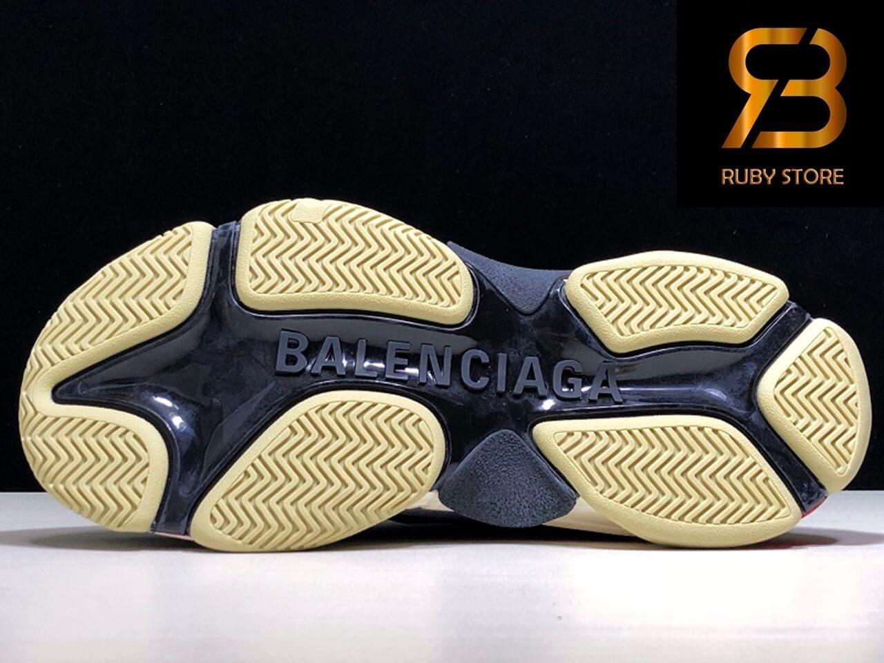 giày balenciaga triple s black red replica 1:1 siêu cấp