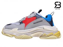 giày balenciaga triple s xám xanh siêu cấp