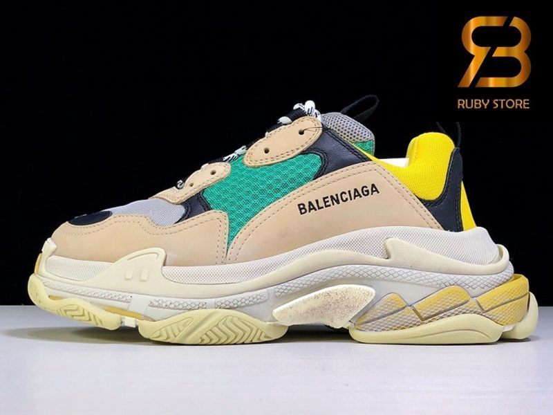 giày balenciaga triple s green yellow replica 1:1 siêu cấp