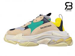 giày balenciaga triple s xanh vàng siêu cấp