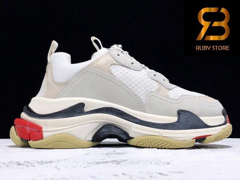 giày balenciaga triple s trắng đỏ siêu cấp