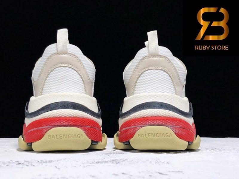 giày balenciaga triple s white red replica 1:1 siêu cấp