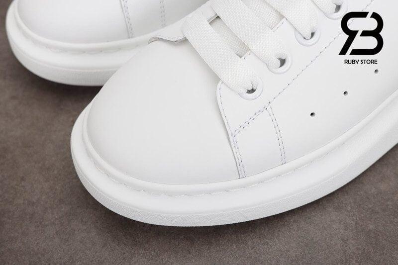 giày alexander mcqueen gót đen nhung siêu cấp like authentic