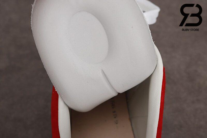 giày alexander mcqueen gót đỏ nhung siêu cấp like authentic