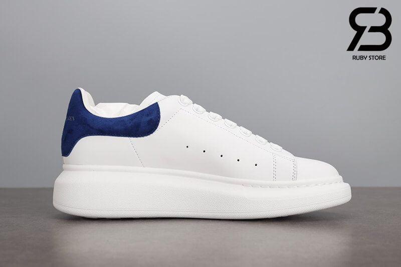 giày alexander mcqueen gót xanh navy nhung siêu cấp like authentic