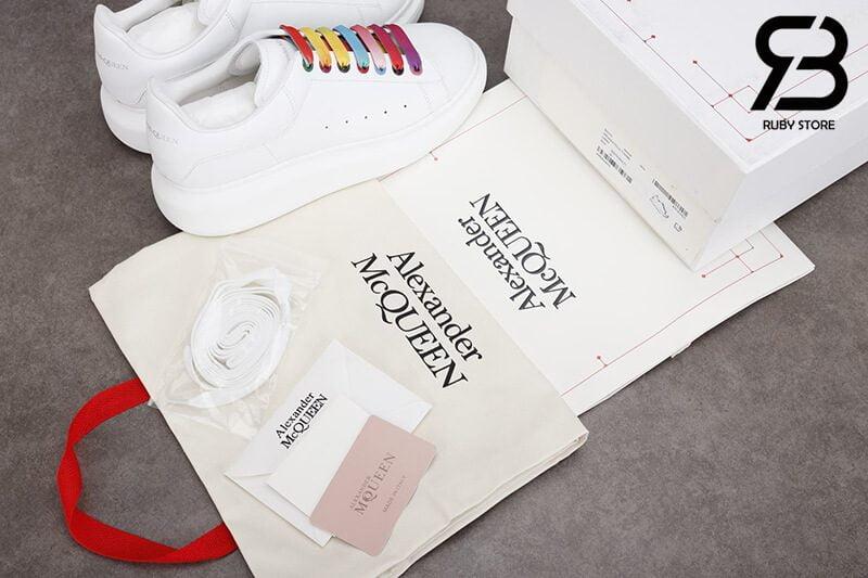 giày alexander mcqueen trắng dây multicolor siêu cấp like authentic