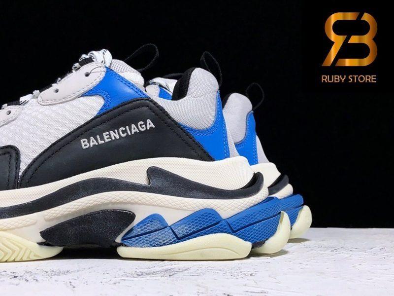 giày balenciaga triple s black blue replica 1:1 siêu cấp