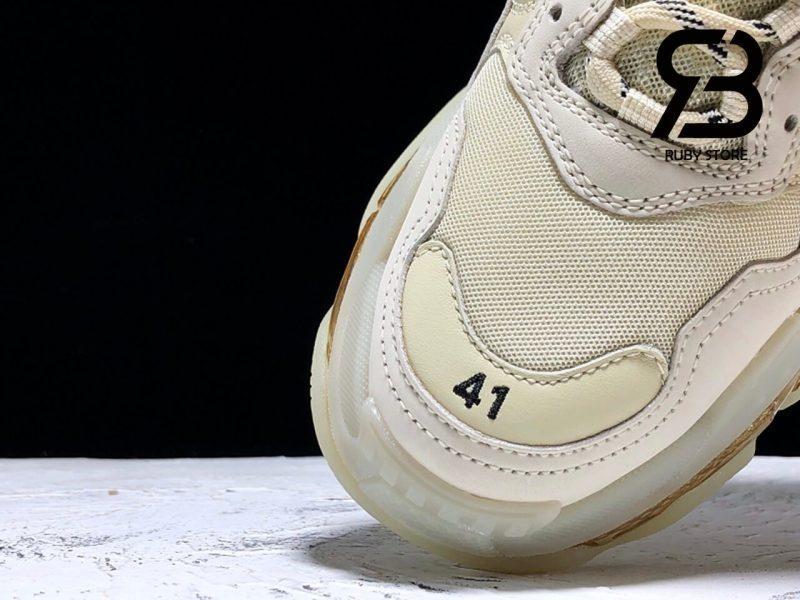 giày balenciaga triple s clear sole crystal replica 1:1 siêu cấp