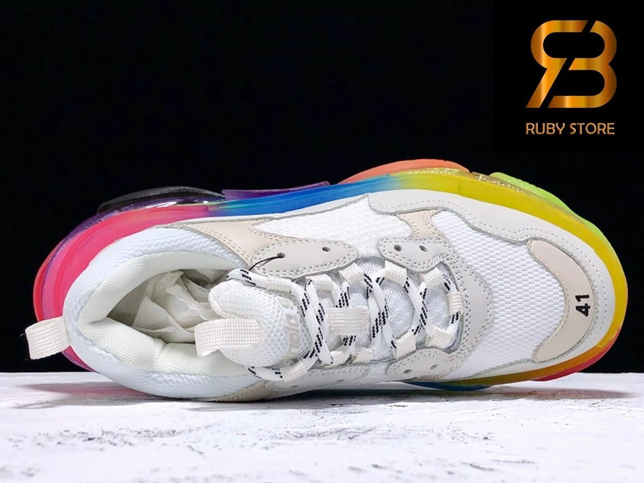 giày balenciaga triple s clear sole multicolor replica 1:1 siêu cấp