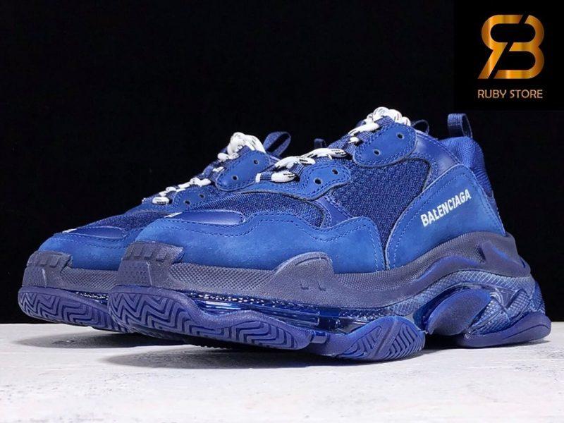 giày balenciaga triple s clear sole xanh navy siêu cấp