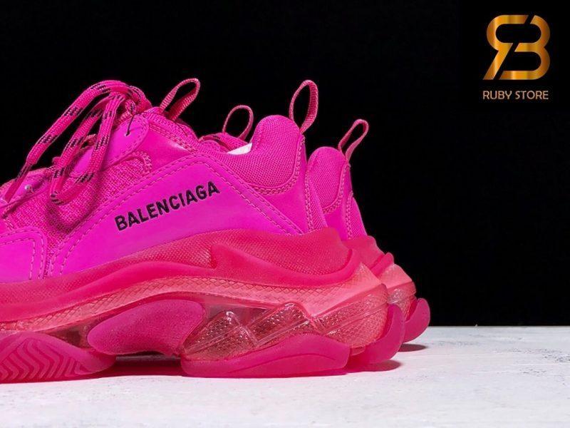 giày balenciaga triple s clear sole hồng siêu cấp