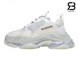 Giày Balenciaga Triple S Clear Sole trắng full siêu cấp