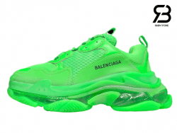 Giày Balenciaga Triple S Clear Sole xanh lá siêu cấp