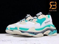 giày balenciaga triple s white green replica 1:1 siêu cấp