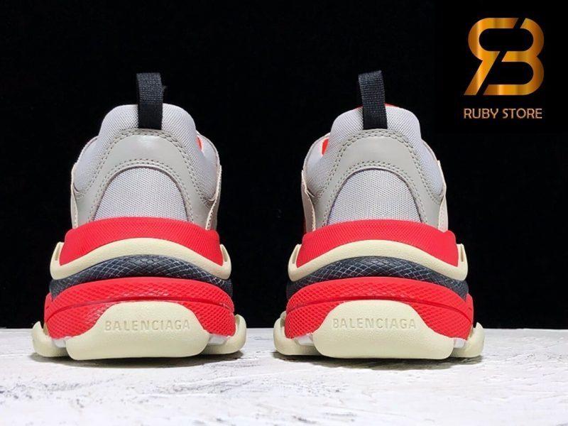 giày balenciaga triple s white grey red replica 1:1 siêu cấp