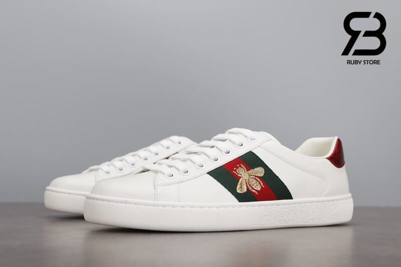 """giày gucci ong """"white bee"""" siêu cấp like authentic"""