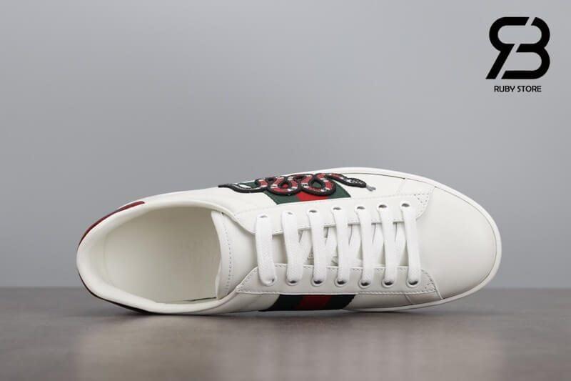 """giày gucci rắn """"white snake"""" siêu cấp like authentic ở hcm"""