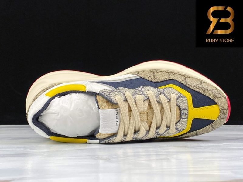 giày gucci rhyton gg blue yellow siêu cấp ở hcm