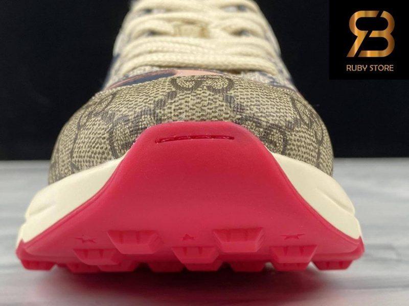 giày gucci rhyton gg brown pink siêu cấp
