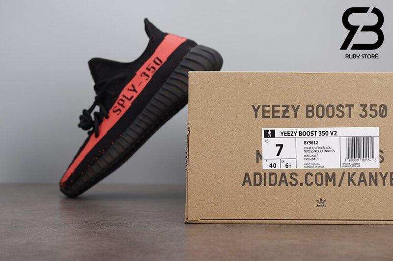 giày adidas yeezy boost 350v2 black red pk god siêu cấp