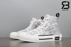 giày dior b23 high top canvas with daniel arsham motif siêu cấp