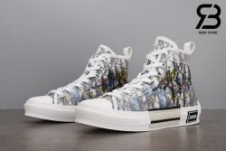 giày dior b23 high top oblique canvas alex foxton motif multicolor siêu cấp