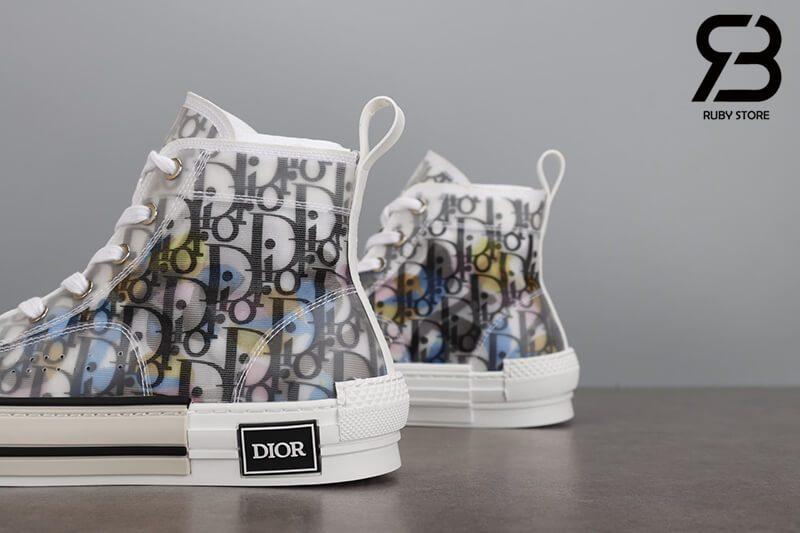 giày dior b23 high top oblique canvas alex foxton motif multicolor siêu cấp