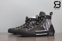 giày dior b23 high top oblique canvas black siêu cấp