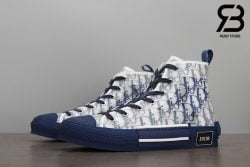 giày dior b23 high top oblique canvas blue siêu cấp