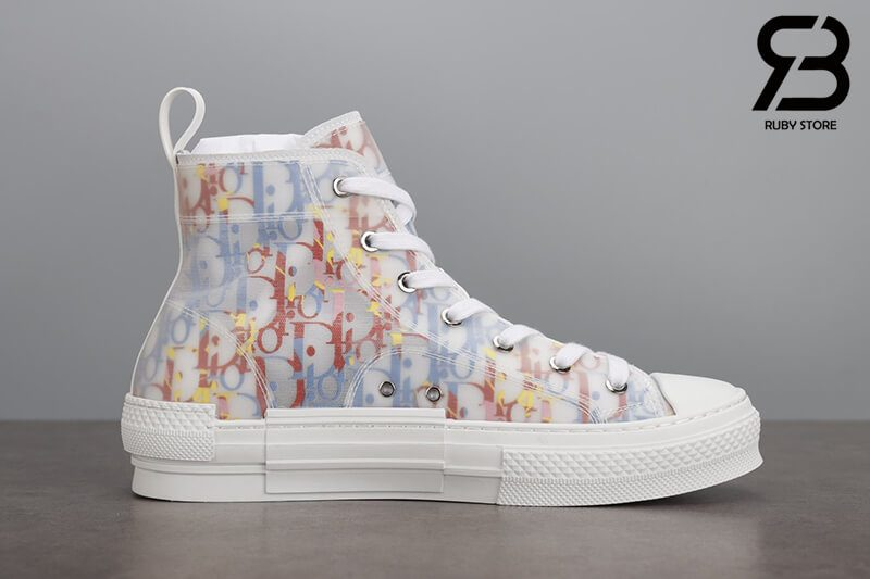 giày dior b23 high top oblique canvas multicolor siêu cấp