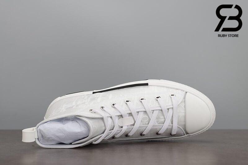 giày dior b23 hight top oblique canvas white siêu cấp