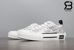 giày dior b23 low top canvas with daniel arsham motif siêu cấp