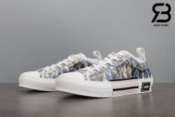 giày dior b23 low top oblique canvas alex foxton motif multicolor siêu cấp