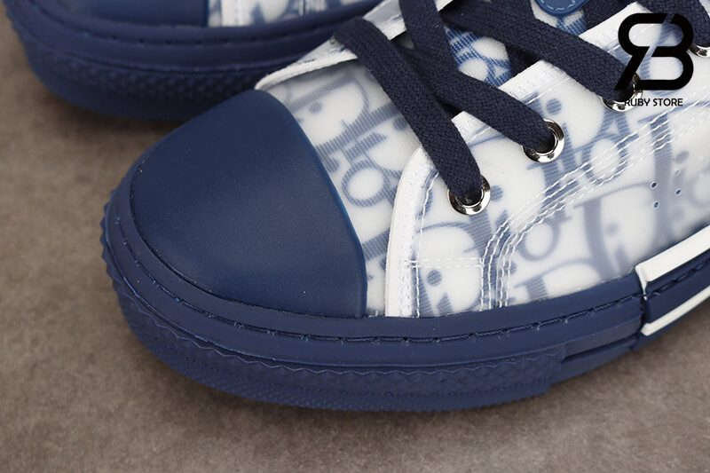 giày dior b23 low top oblique canvas blue siêu cấp