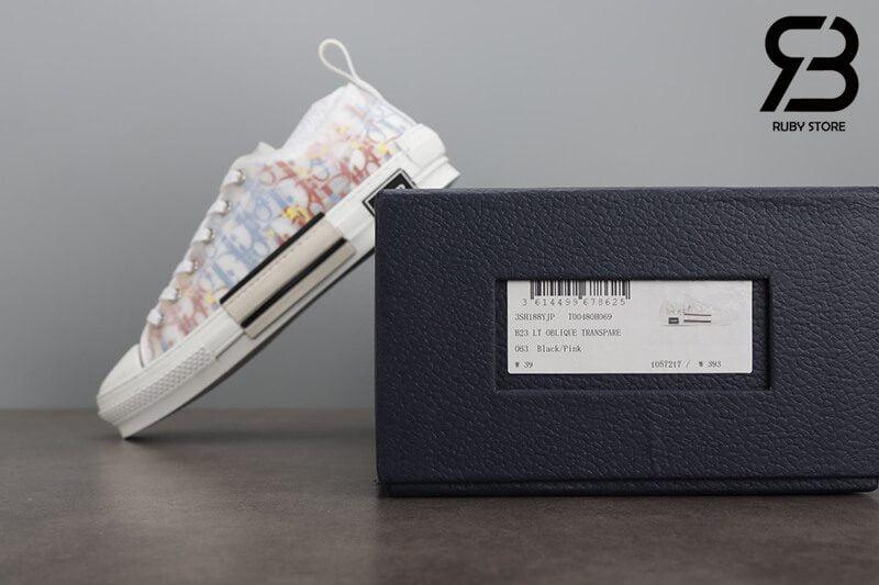 giày dior b23 low top oblique canvas multicolor siêu cấp
