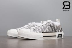giày dior b23 low top oblique canvas white black siêu cấp