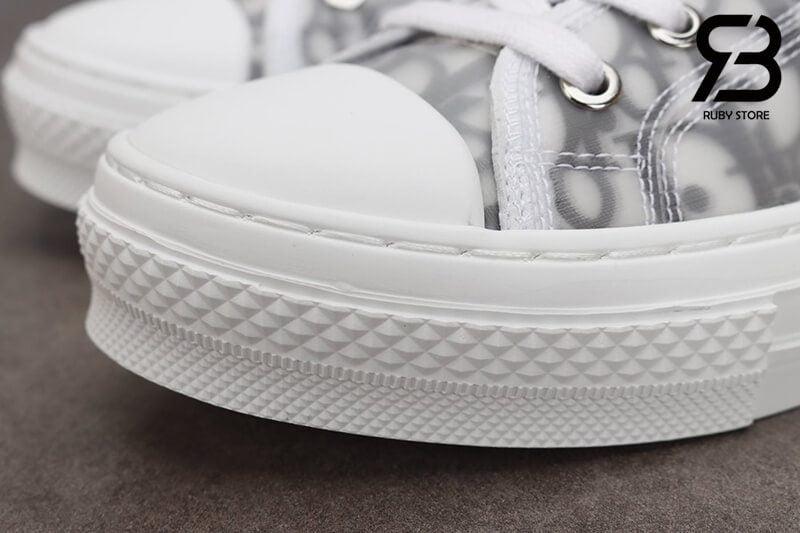 giày dior b23 low top oblique canvas white black siêu cấp