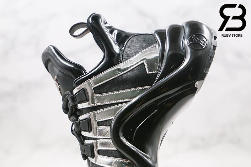 giày lv archlight sneaker black silver siêu cấp