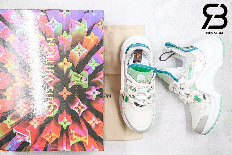 giày lv archlight sneaker blue green siêu cấp