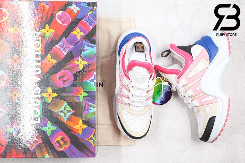 giày lv archlight sneaker pink siêu cấp