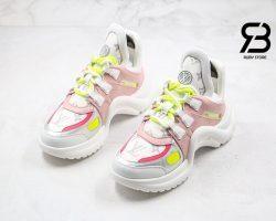 giày lv archlight sneaker pink yellow siêu cấp
