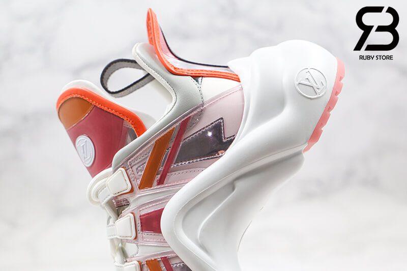 giày lv archlight sneaker rose orange siêu cấp