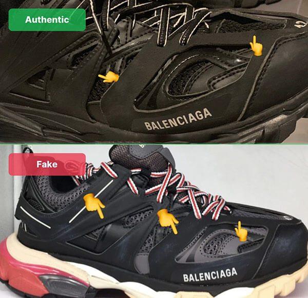 Nhận biết Balenciaga Track 3 thật giả qua đường khâu