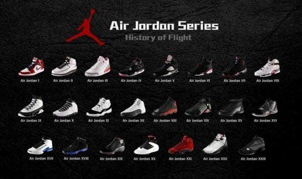 Tổng hợp giày Air Jordan 1 đến 23
