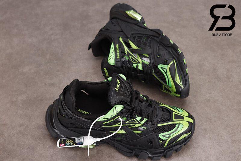 giày balenciaga track 2 black green siêu cấp