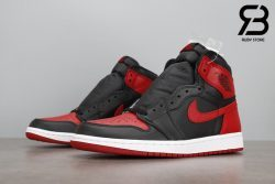 giày nike air jordan 1 high og retro black varsity red siêu cấp