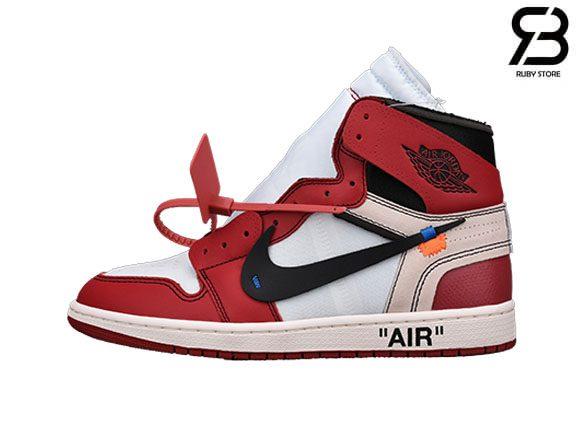 giày nike air jordan 1 off white chicago siêu cấp