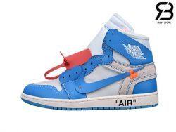 Giày Nike Air Jordan 1 Off White University Blue Siêu Cấp